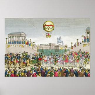 Entrada en París Louis XVIII del 4 de mayo de 1814 Póster
