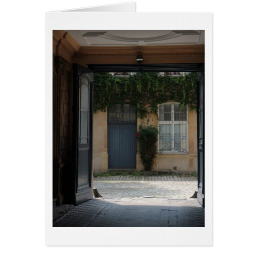 Entrada francesa Notecard Tarjetas