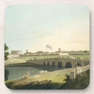 Entrada occidental del fuerte San Jorge, Madras, p Posavasos