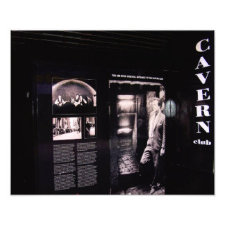Entrada original del club de la caverna, arte fotografico