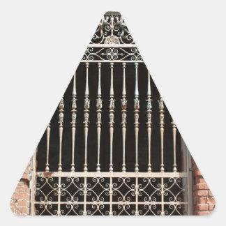 Entrada Pegatina Triangular