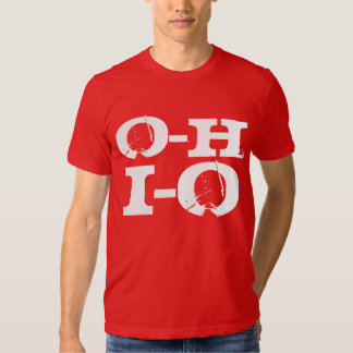 Entrada-salida Ohio, Grunge rojo y blanco fresco Playera