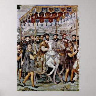 Entrada solemne del emperador de Taddeo Zuccari Poster