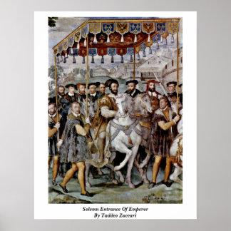 Entrada solemne del emperador de Taddeo Zuccari Posters