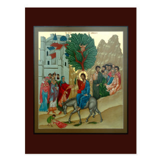 Entrada triunfal en tarjeta del rezo de Jerusalén Postal