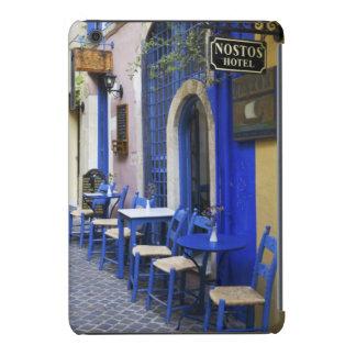 Entrada y apartadero azules coloridos al hotel funda para iPad mini retina