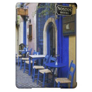Entrada y apartadero azules coloridos al hotel vie funda para iPad air