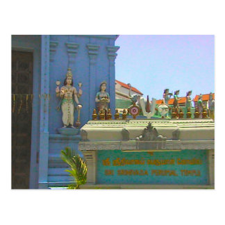 Entrada y nombre del templo postal