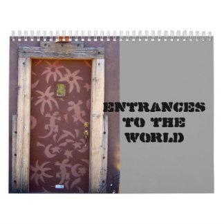 Entradas al mundo calendario de pared