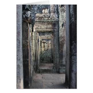 entradas del angkor tarjeta de felicitación
