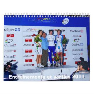 Entrainements y salidas 2011 #2 calendarios de pared