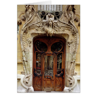 Entrance door to the apartments card