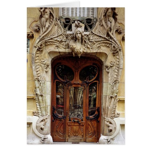 Entrance door to the apartments greeting card