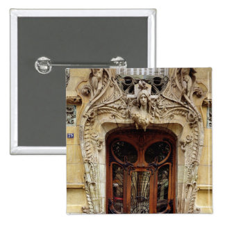 Entrance door to the apartments pinback button