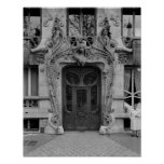 Entrance door to the apartments print