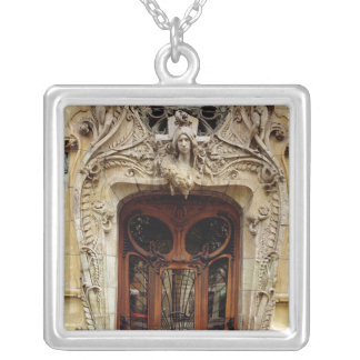 Entrance door to the apartments silver plated necklace