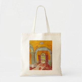 Entrance Hall of Saint-Paul Hospital by Van Gogh Canvas Bags