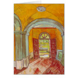 Entrance Hall of Saint-Paul Hospital by Van Gogh Greeting Cards