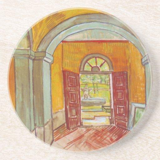 Entrance Hall of Saint-Paul Hospital by Van Gogh Coasters