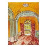 Entrance Hall of Saint-Paul Hospital by Van Gogh Announcement