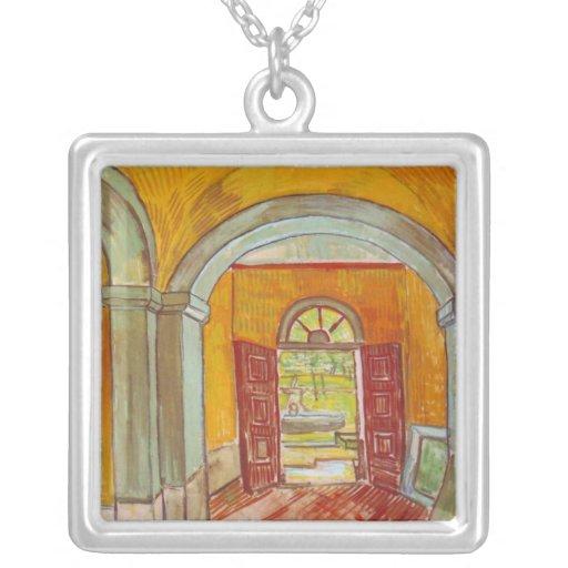 Entrance Hall of Saint-Paul Hospital by Van Gogh Custom Necklace