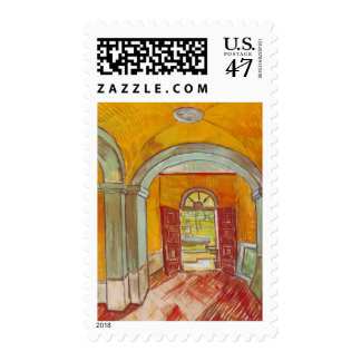 Entrance Hall of Saint-Paul Hospital by Van Gogh Postage