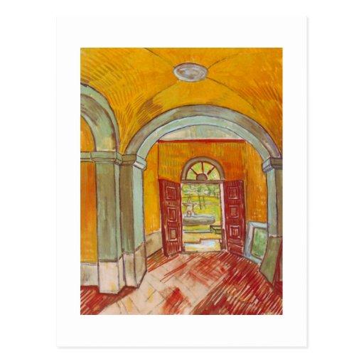 Entrance Hall of Saint-Paul Hospital by Van Gogh Postcards