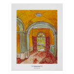 Entrance Hall of Saint-Paul Hospital by Van Gogh Posters