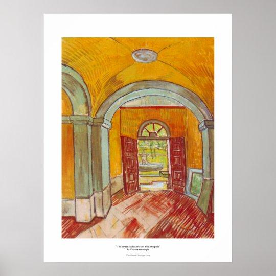 Entrance Hall of Saint-Paul Hospital by Van Gogh Poster