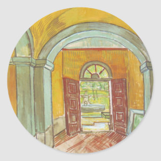 Entrance Hall of Saint-Paul Hospital - Van Gogh Classic Round Sticker