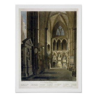 Entrance into Poet's Corner, plate 26 from 'Westmi Poster