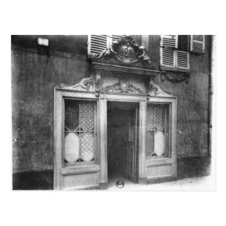 Entrance of a brothel in Paris Postcard