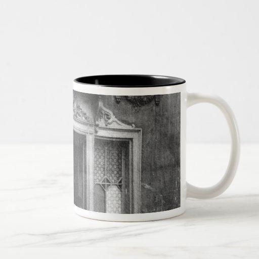 Entrance of a brothel in Paris Two-Tone Coffee Mug