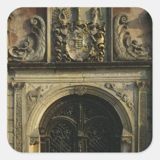 Entrance of City Hall Square Sticker