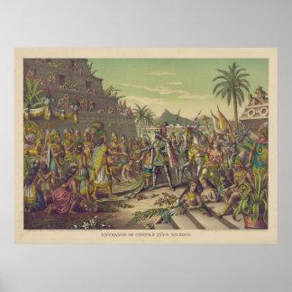 Entrance of Hernan Cortez into Mexico Nov 8th 1519 Poster