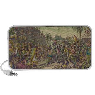 Entrance of Hernan Cortez into Mexico Nov 8th 1519 Portable Speakers