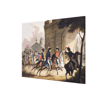 Entrance of Lord Wellington into Salamanca at the Canvas Print
