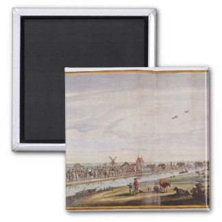 Entrance of Marie de' Medici  into Holland 2 Inch Square Magnet