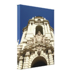 Entrance Of Pasadena's City Hall Stretched Canvas Print