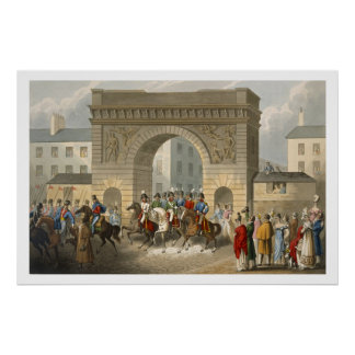 Entrance of the Allies into Paris, engraved by Mat Poster