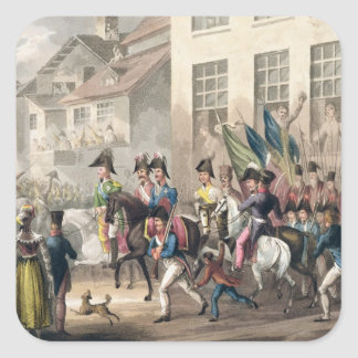 Entrance of the Allies into Paris, March 31st 1814 Square Sticker