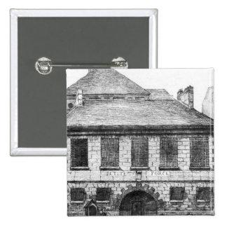 Entrance of the prison 'La Petite Force' 2 Inch Square Button