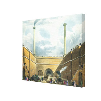 Entrance of the Railway at Edge Hill, Liverpool, p Canvas Print