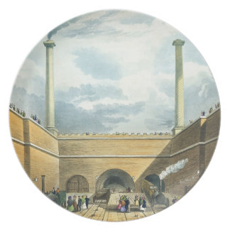 Entrance of the Railway at Edge Hill, Liverpool, p Plate