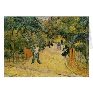 Entrance, Public Park in Arles Van Gogh Fine Art Card