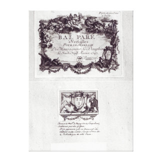 Entrance ticket for the ball in Versailles Canvas Prints