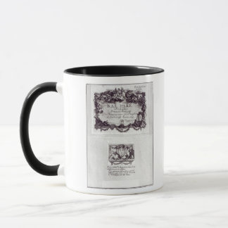 Entrance ticket for the ball in Versailles Mug