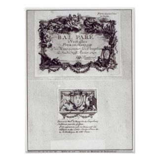 Entrance ticket for the ball in Versailles Poster
