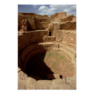 Entrance to a Kiva, built c.11th-14th centuries Poster