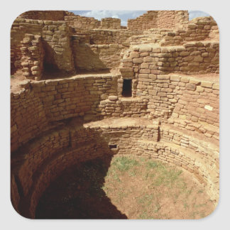 Entrance to a Kiva, built c.11th-14th centuries Square Sticker